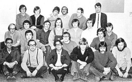 Photo of Wayne and residence floormates 1972